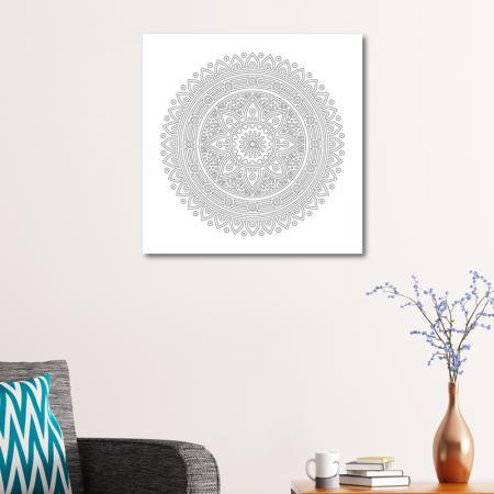 Radyal Desenli Mandala Tablosu resim2