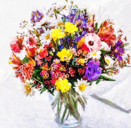 Rengarenk Çiçek Buketi 0