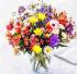 Rengarenk Çiçek Buketi k0