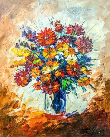 Rengarenk Çiçekler resim