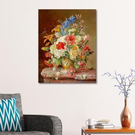 Rengarenk Çiçekler ve Kelebekler resim2