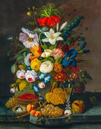 Rengarenk Çiçekler ve Meyveler resim