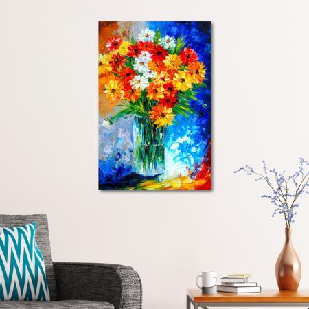 Renkli Bahar Çiçekleri Buketi resim2