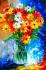Renkli Bahar Çiçekleri Buketi k0