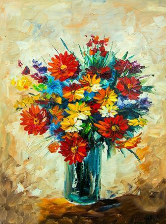 Renkli Çiçek Buketi resim