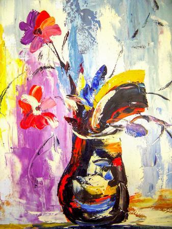Renkli Vazo resim