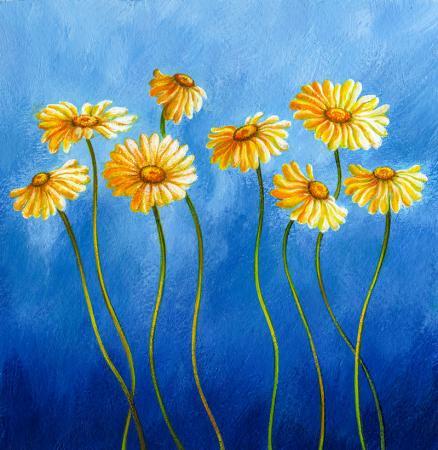 Sarı Gerberalar resim