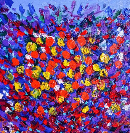 Soyut Çiçekler resim