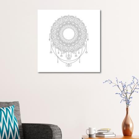 Soyut Desenli Mandala Tablosu resim2