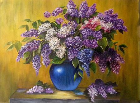Vazodaki Mor Sümbüller resim