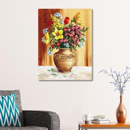 Vazodaki Renkli Çiçekler resim2