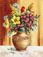 Vazodaki Renkli Çiçekler - CT-C-121