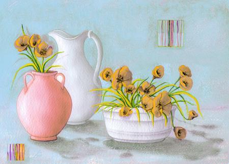 Vazolar ve Çiçekler resim
