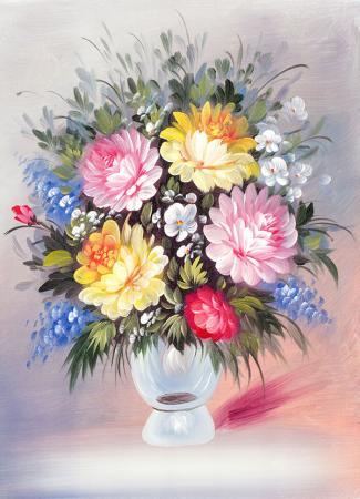 Yumuşak Tonlu Çiçekler resim