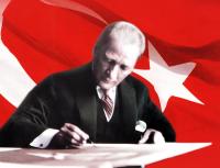 Atatürk ve Türk Bayrağı Tablosu - ATA-C-143