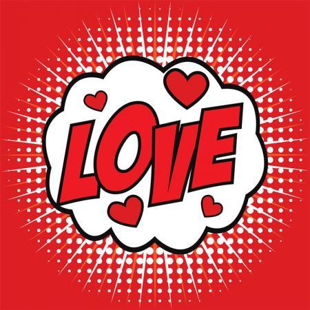 Love Popart resim
