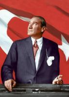 Atatürk ve Bayrak - ATA-C-107-K