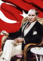 Atatürk ve Türk Bayrağı Tablosu - ATA-C-145-K