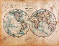 Eskitilmiş Dünya Haritası - GN-C-001