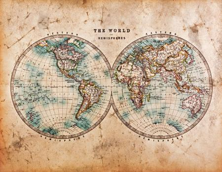 Eskitilmiş Dünya Haritası resim