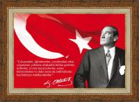 Çerçeveli Atatürk - OZELSIPARIS