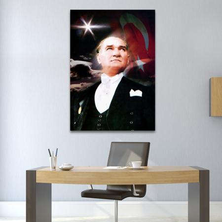 Atatürk Posteri - Kanvas Tablo resim2