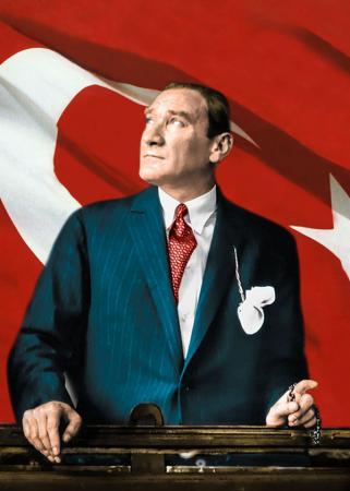 Atatürk ve Bayrak resim