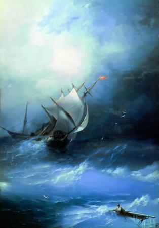 Atlantik Okyanusunda Fırtına  resim