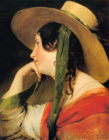 Girl in a Yellow Straw Hat resim