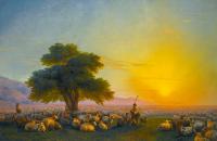 Kırım'da Çoban ve Sürüsü - AIK-C-084