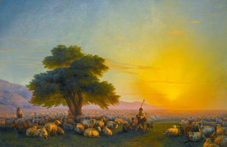 Kırım'da Çoban ve Sürüsü resim