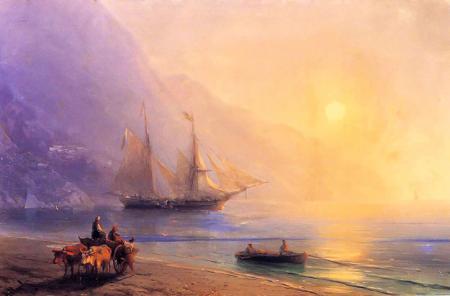 Kırım Sahilinde Erzak Yüklemesi resim