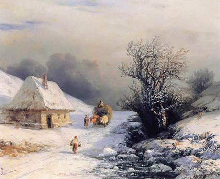 Kışın Küçük Rusya Kağınısı resim