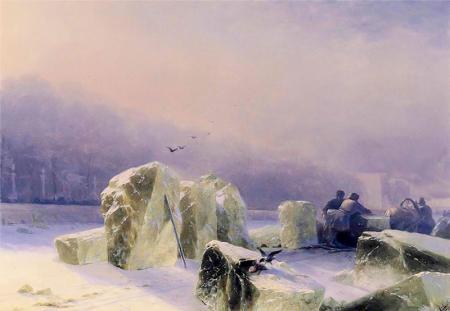 Neva Nehrinde Buz Kıranlar resim