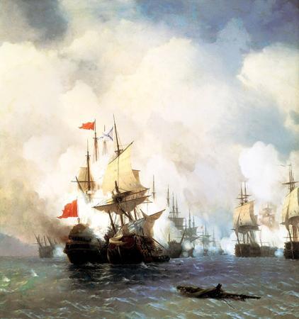 Sakız Adasında Deniz Savaşı resim