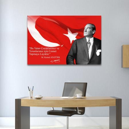 Yazılı Atatürk Tablosu resim2