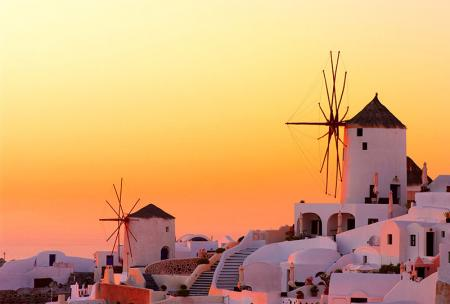Greek Islands Sunset resim