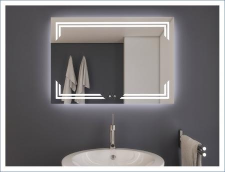 AYAZ10DL Dokunmatik Mercekli Buğu Önleyicili Işıklı Ayna - 60 X 80 cm resim