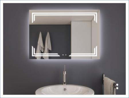 AYAZ10DL Dokunmatik Buğu Önleyicili Işıklı Ayna - 60 X 80 cm resim