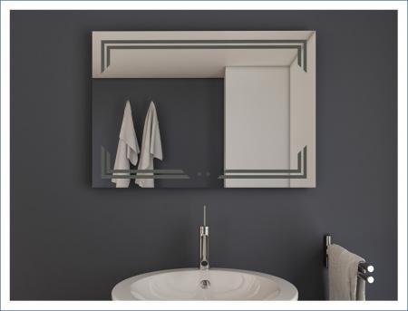AYAZ10DL Dokunmatik Mercekli Işıklı Ayna - 75 X 100 cm resim2