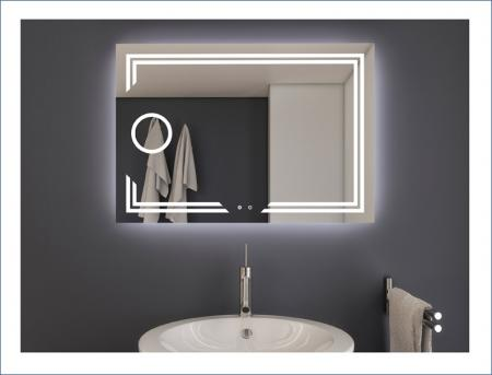 AYAZ11DL Dokunmatik Mercekli Buğu Önleyicili Işıklı Ayna - 75 X 100 cm resim