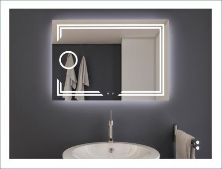 AYAZ11DL Dokunmatik Mercekli Işıklı Ayna - 60 X 80 cm resim