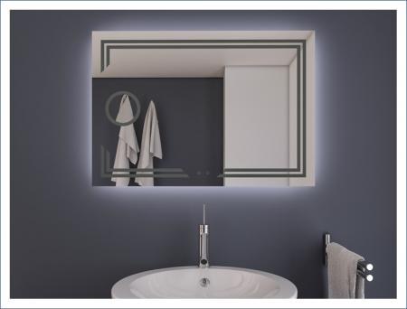 AYAZ11DL Dokunmatik Mercekli Buğu Önleyicili Işıklı Ayna - 75 X 100 cm resim2