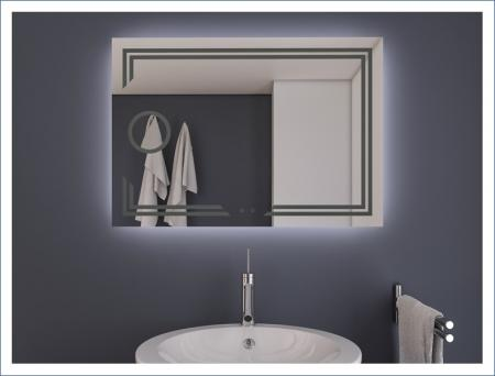 AYAZ11DL Dokunmatik Mercekli Buğu Önleyicili Işıklı Ayna - 75 X 120 cm resim2