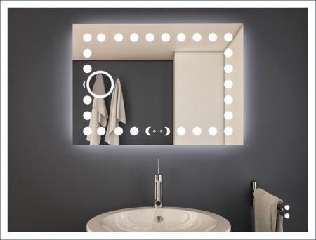 AYAZ20DL Dokunmatik Mercekli Buğu Önleyicili Işıklı Ayna - 75 X 100 cm resim