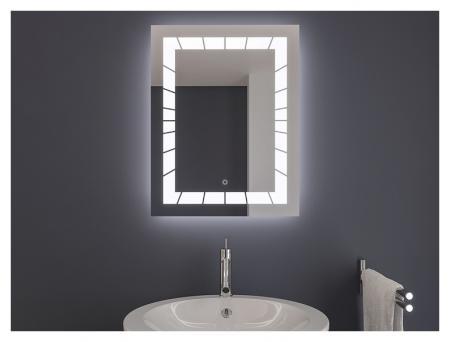AYAZ2DL Dokunmatik Mercekli Buğu Önleyicili Işıklı Ayna - 60 X 80 cm resim