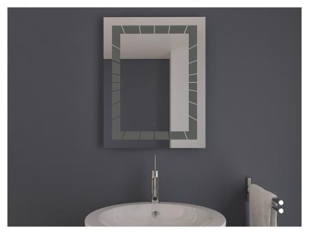 AYAZ2DL Dokunmatik Mercekli Buğu Önleyicili Işıklı Ayna - 75 X 100 cm resim2