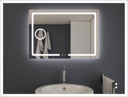 AYAZ3DL Dokunmatik Mercekli Işıklı Ayna - 60 X 80 cm resim