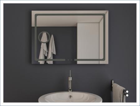 AYAZ3DL Dokunmatik Mercekli Buğu Önleyicili Işıklı Ayna - 75 X 100 cm resim2