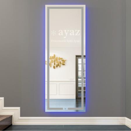 AYAZ3SL Işıklı Senörlü Boy Aynası - 50 X 150 cm resim2